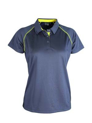 The Aurora Sport Womens XT Performance Pullover Polo is a 150gsm polyester performance polo. 11 colours. 8 - 22. Great branded performance polos.