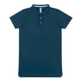 The Cloke Womens Element Polo is a 220gsm premium combed ring spun cotton polo.  5 colours. 8 - 22.  Great branded heavyweight polos from Cloke.