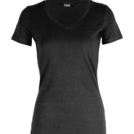 The Cloke Womens V-Neck Tee is a contemporary tailored fit, v-neck tee.  145gsm.  Black or Navy.  8 - 20.  Great branded v neck tees from Cloke.
