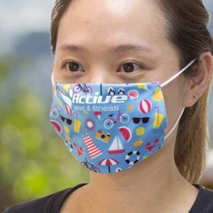 The TRENDS Reusable Face Mask Full Colour - Small is a reusable face mask which protects with 2 layers of 140gsm polyester.  Full colour branded face masks.