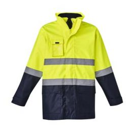 The Syzmik Hi Vis Basic 4 in 1 Waterproof Jacket is a 4 in Jacket, waterproof to 3000mm.  2 colours.  XXS - 7XL.  Great hi vis waterproof jackets from Syzmik.