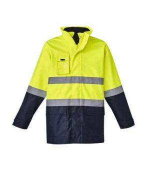 The Syzmik Hi Vis Basic 4 in 1 Waterproof Jacket is a 4 in Jacket, waterproof to 3000mm. 2 colours. XXS - 7XL. Great hi vis waterproof jackets from Syzmik.