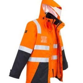 The Syzmik Hi Vis 4 in 1 Waterproof Jacket is a jacket with reversible zip vest with fleece lining.  2 colours.  XXS - 7XL.  Great branded hi vis workwear from Syzmik.