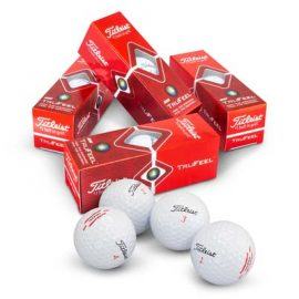 The Titleist TruFeel Golf Balls are Titleist softest golf balls.  Boxes of 3 in a box of 12.  White balls.  Great branded golf balls brought to you by TRENDS.