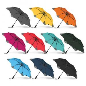 The BLUNT Metro Umbrella is a compact, convenient and collapsible umbrella. High end. 10 colours. Great branded corporate umbrellas.