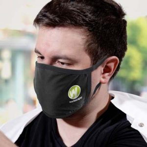 The TRENDS Reusable 3-Ply Cotton Face Mask is a reusable face mask made from 130gsm cotton and spandex.  Black.  Branded in 2 positions.  Printed face masks for you and your team.