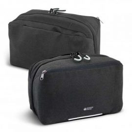 The Swiss Peak Toiletry Bag is a luxury travel accessory. Co brand with Swiss Peak with embroidery or full colour transfer.