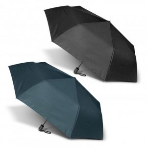 The PEROS Economist Umbrella is a high end folding umbrella. 8 panel. 3 stage steel shaft. Navy or Black. Print or transfer available.