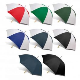 The PEROS Rookie umbrella is an affordable, 8 panel umbrella. Wood hand grip. 7 colours. Printing and digital transfers available for branding.
