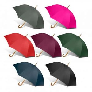 The PEROs Boutique Umbrella is a trendy umbrella with wood hook handle and shaft. 7 colours. Screen print or transfer available. To check out the full PEROs range click here